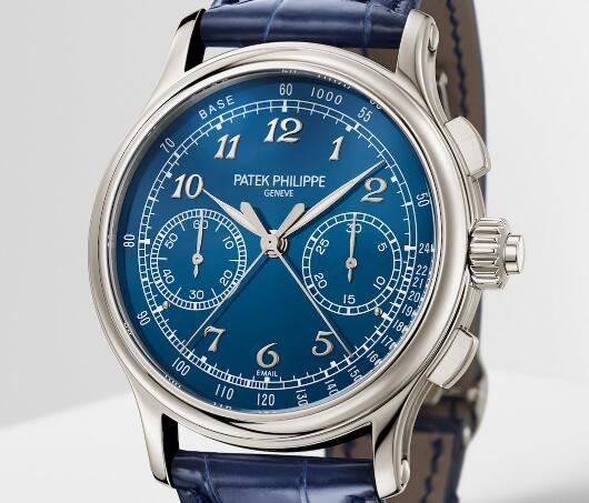 The blue dial with glossy treatment looks brilliant and eye-catching.